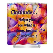Text Art Gratitude Shower Curtain