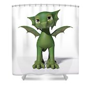 The Adorable Dragon  Shower Curtain