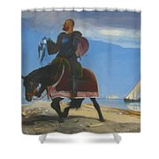 The Adventurer 1882 Shower Curtain