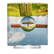 The Angel Of The North. Shower Curtain