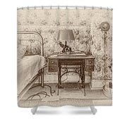 The Antique Sewing Machine Shower Curtain