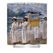 The Ark Passes Over The Jordan, 1902 Shower Curtain