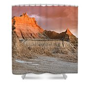 The Badlands With Another Sunrise Shower Curtain