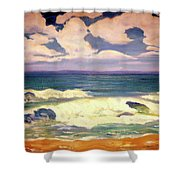 The Beach  Shower Curtain by Valerie Anne Kelly