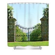 The Bear Gates At Traquair Shower Curtain
