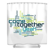 The Beatles - Come Together Lyrical Cloud Shower Curtain
