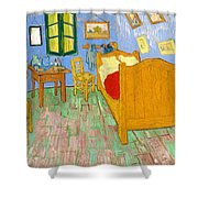 The Bedroom At Arles - Digital Remastered Edition Shower Curtain