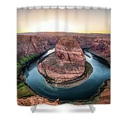 The Bend - Horseshoe Bend At Sunset In Arizona Shower Curtain