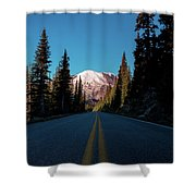 The Best Roads Lead To Rainier Shower Curtain