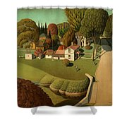 The Birthplace Of Herbert Hoover, 1931 Shower Curtain