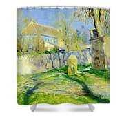 The Blue House Shower Curtain