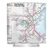 The Boston Pubway Map Iv Shower Curtain