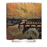 The Bridges Of Maastricht Shower Curtain