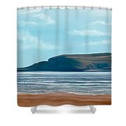 The British Seaside Shower Curtain by Mark Taylor
