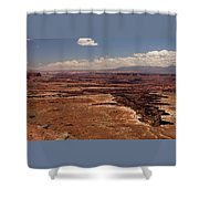 The Canyon Floor Below - 1 Shower Curtain