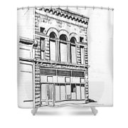 The Capital Transfer And Sands Brothers Building Helena Montana Shower Curtain