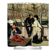 The Captain And The Mate, 1873 Shower Curtain