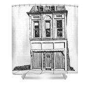 The Colwell Building Helena Montana Shower Curtain