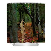 The Company Of Trees Shower Curtain