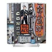 The Condor The Original Big Als And Roaring 20s Adult Strip Clubs On Broadway San Francisco R466 Shower Curtain by Wingsdomain Art and Photography