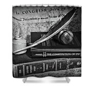 The Constitutional Lawyer In Black And White Shower Curtain