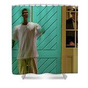 The Curious Waiter Shower Curtain