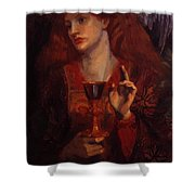 The Damsel Of The Sanct Grail Shower Curtain