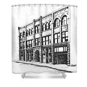 The Denver Block Helena Montana Shower Curtain