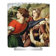 The Deposition, Detail, 1507 Shower Curtain