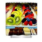 The Dessert Trays Shower Curtain