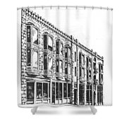 The Diamond Block Helena Montana Shower Curtain