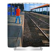 The Distance Of Solitude Shower Curtain