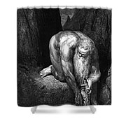 The Divine Comedy, By Dante The Giant Antaeus Shower Curtain