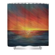 The Edge Of Sunset Shower Curtain