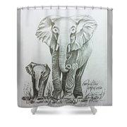 The Elephant Shower Curtain