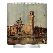 The Entrance To The Arsenal In Venice  Shower Curtain