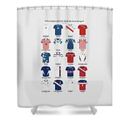 The Evolution Of The Us World Cup Soccer Jersey Shower Curtain