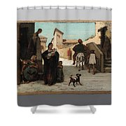 The Fable Of The Miller  His Son  And The Donkey  Shower Curtain