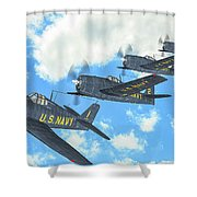 The First Blue Angels - Oil Shower Curtain