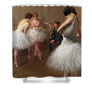 The First Pose, The Ballet Lesson Shower Curtain