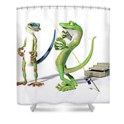 The Fishing Tale Shower Curtain