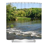 the ford at Etal on river Till Shower Curtain