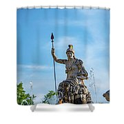 The Fountain Of Rometta Shower Curtain