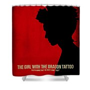 The Girl With A Dragon Tattoo Shower Curtain