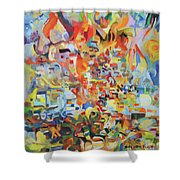 The Giving Of The Torah Shower Curtain