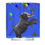 The Happiest Elephant Shower Curtain