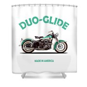 The Harley Duo-glide 1958 Shower Curtain by Mark Rogan