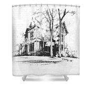 The Hauser Mansion, Helena, Montana Shower Curtain