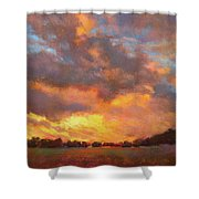 The Heavens Declare His Glory Shower Curtain