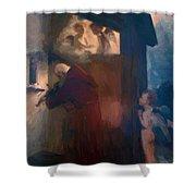 The Hermit 1884 Shower Curtain